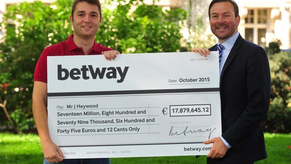 UK player winning huge jackpot